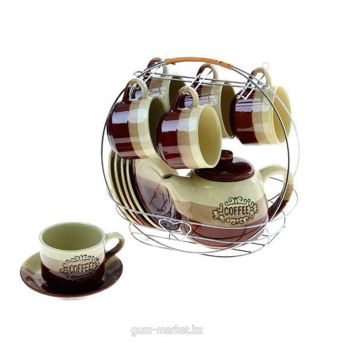 """""""Кофеек"""" чайный сервиз на 6 персон"""